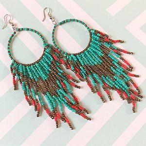 2 for $20 Desert Boho Style Long Beaded Earrings